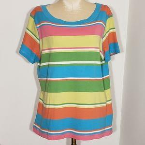 VanHeusen Ladies striped Tee size Large